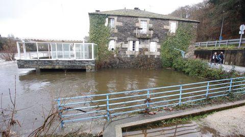 Crecida del río Miño a su paso por Lugo
