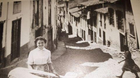 Foto antigua de A Calexa, bautizada como Abelardo Baanante en el año 1926
