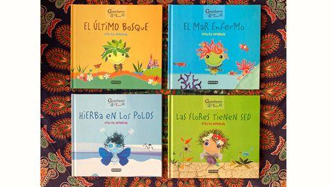 Portadas de los libros de la nueva colección de Violeta Monreal