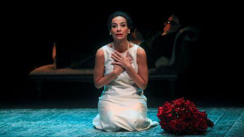 María Rey-Joly (Callas) y Antonio Comas (Onassis), en el montaje de Boadella sobre María Callas