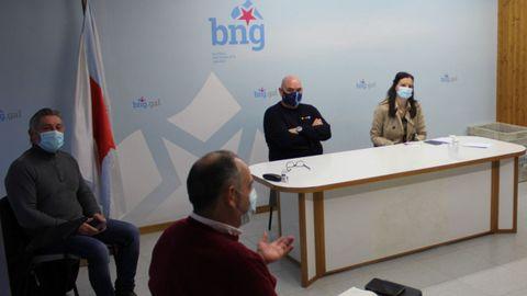 Reunión de Olala Rodil y Efrén Castro con los distribuidores de la hostelería lucense