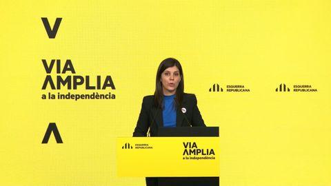Marta Vilalta, portavoz de ERC, en la presentación de la campaña para el 14 de febrero