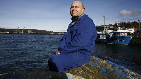 Ramón Fernández Rey, esta semana no porto de Celeiro, onde ten a base o pincheiro Aveneira