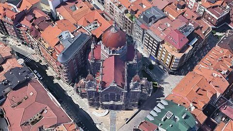 Iglesia de San Juan el Real, en el centro de Oviedo