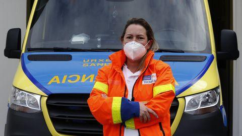 Sandra Paz, conductora de ambulancias en A Coruña