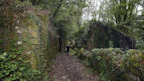 Aldea abandonada en Xei, en el municipio de Noia