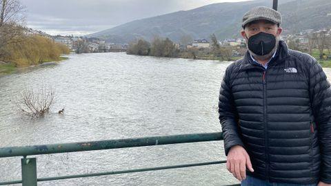 Santiago Melo elige como su rincón el río Sil a su paso por O Barco