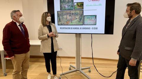 El profesor Rigueiro junto a la alcaldesa de Lugo y el edil de Medio Ambiente