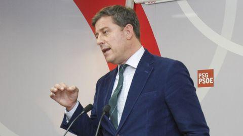 Besteiro, cuando renunció a la secretaria general del PSdeG en el 2016