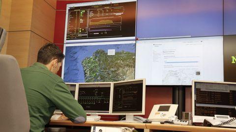 Foto de archivo del centro de control de UFD en A Coruña