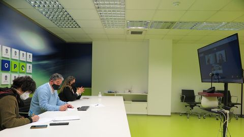 Reunión del gobierno local de Pontevedra con representantes de la asociación gallega en defensa de las agencias de viajes
