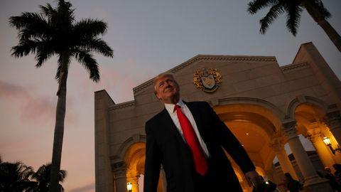 Trump, en su club de Palm Beach en el 2017