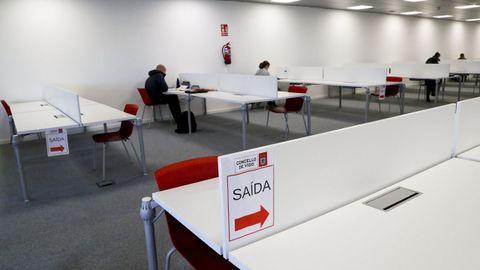 Biblioteca de la UNED de Vigo en una imagen del mes de noviembre