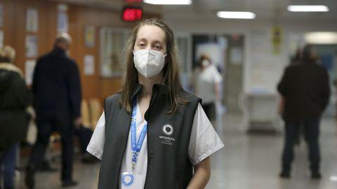 Jessica Seco, del área sanitaria de Ferrol