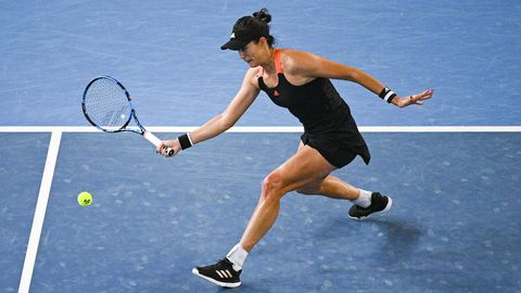 La tenista Garbine Muguruza en la final de Melbourne