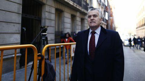 El extesorero del PP Luis Bárcenas, acude a una comparecencia en la Audiencia Nacional