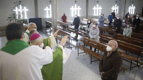 Mudarra en la eucaristía en San Francisco Javier