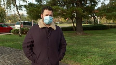 Pablo Riesgo, auxiliar de enfermería de 26 años