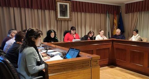 Imagen de archivo de un pleno de Bergondo a principios del 2020
