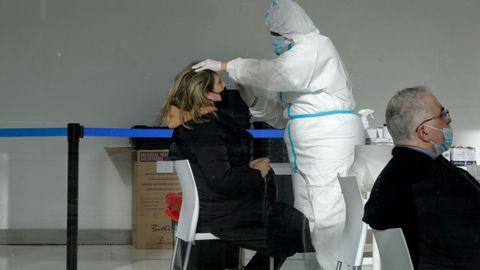 Imagen de las pruebas de cribado en la ciudad de A Coruña
