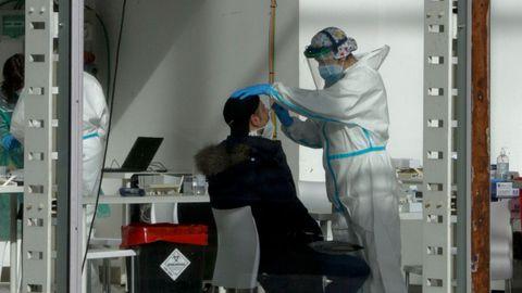 Cribado masivo con test de antígenos en  Expocoruña para la detección del covid-19