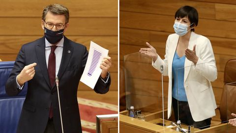 Feijoo y Pontón, esta mañana en el Parlamento