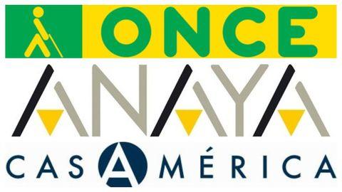 Logos de la ONCE, Anaya y Casa América