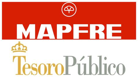 Logos de Mapfre y Tesoro Público