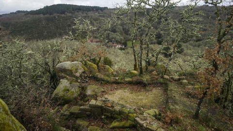 Aldea de San Salvador dos Penedos. Aldea gallega con restos del Castelo de Todea, situada en plena reserva de la biosfera Área de Allariz