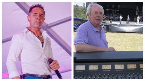El cantante José Luis Rodríguez, «Puma», y el empresario Francisco Pico
