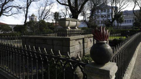 Mausoleo de sir John Moore en el jardín de San Carlos de A Coruña