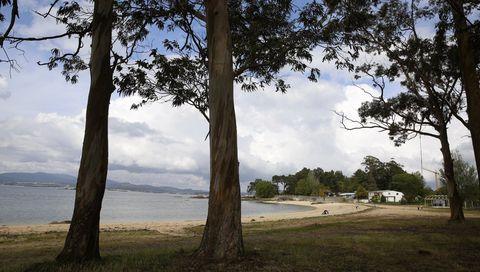 Un clásico, paseo por la playa de As Sinas