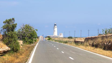 Carretera PM-820, en Formentera