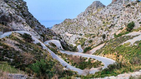 Carretera MA-2141, en Mallorca