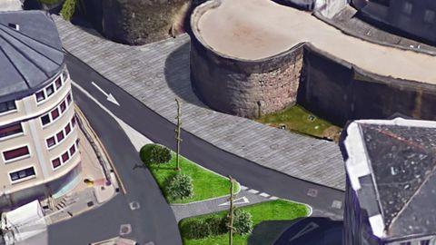 Recreación de como cambiará la parte frontal de la Porta Santiago