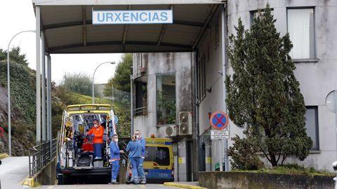 En el hospital Montecelo, en Pontevedra, había este viernes 69 pacientes covid ingresados en planta y 16 graves en unidades de críticos