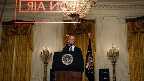 Biden, durante su intervención virutal desde la Casa Blanca