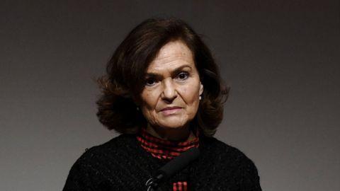 La hasta ahora vicepresidenta primera del Gobierno, Carmen Calvo, en una imagen del 17 de febrero