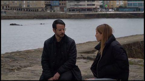 Detalle do encontro dos músicos Alejandro Guillán «Baiuca» e Laura Lamontagne, dentro do programa da RAG e a USC «Conseguiremos»