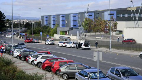 Vista exterior del Hospital de Lugo