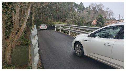El puente arreglado que permite conectar Galicia y Asturias