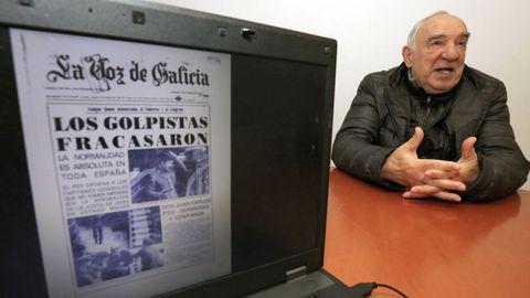 El socialista gallego José Vázquez Fouz estaba el 23 de febrero de 1981 en su escaño del Congreso de los Diputados cuando Tejero entró al hemiciclo pistola en mano
