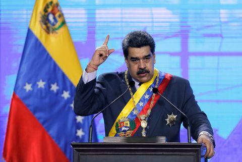 Maduro, el lunes durante un acto en Caracas