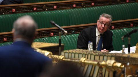 El ministro Michael Gove, duante una intervención en diciembre en la Cámara de los Comunes