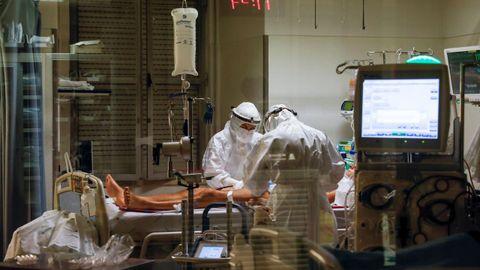 Unidad de cuidados intensivos del hospital Sao Jose, en Lisboa