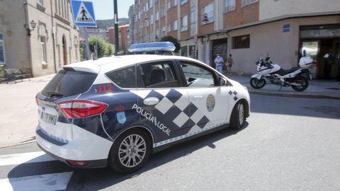 La Policía Local de Marín acudió al lugar del suceso