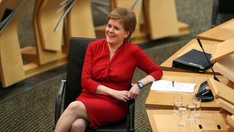 Nicola Sturgeon, en la sesión del martes en el Parlamento escocés