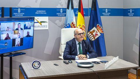José Manuel Baltar, en la reunión telemática en la fue designado presidente del Foro Termal