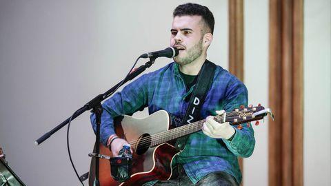 Adrián, durante su último concierto antes de las restricciones que se levantan hoy, en enero en el Liceo