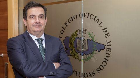 Luis Antuña, presidente del Colegio de Médicos de Asturias